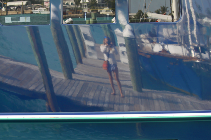 Every trip I take, I like to get a reflection of myself. This is from the Bahamas, March 2014.