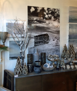 Pimlico's silvery 2013 holiday display, featuring my photos
